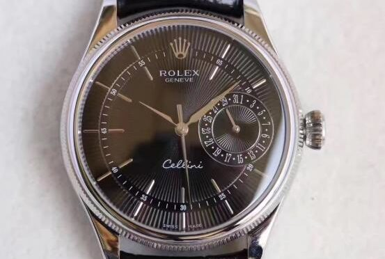 Реплика Rolex Cellini Date 50519-0007 Черный циферблат